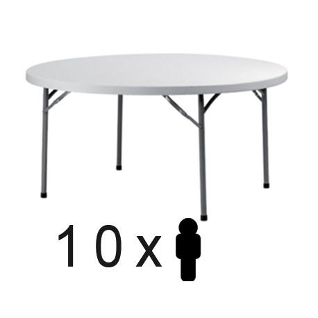 Mesa plegable de 180 cms para 10 personas for Mesa para 10 personas
