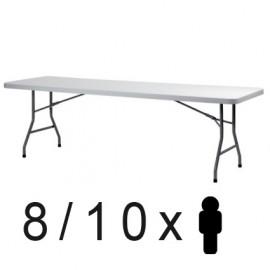 Mesa plegable 240 x 76 cms