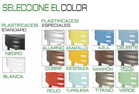 color armazón plastificado