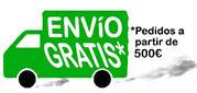 Envio gratis con su compra superior a 500€